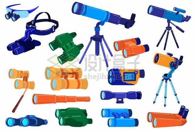 各种双筒单筒望远镜天文望远镜等798968 png图片素材