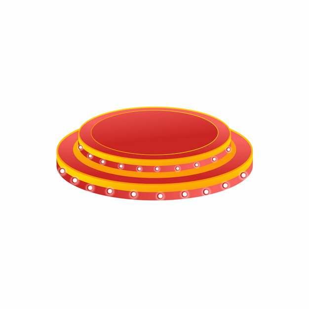 电商产品商品圆形红色底座展台935260png图片AI矢量图素材