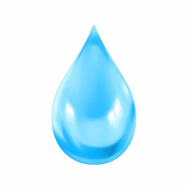 逼真的蓝色水滴液滴715376png图片素材