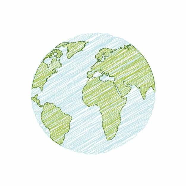 手绘涂鸦地球png图片素材493308