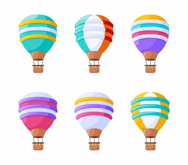 6款彩色热气球859507png图片素材