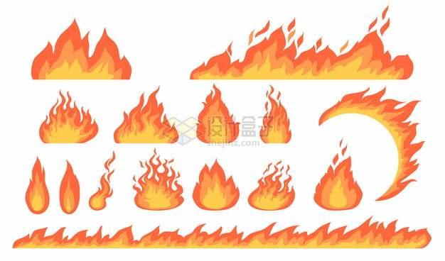 红橙色的火苗燃烧的火焰图案426339png图片素材
