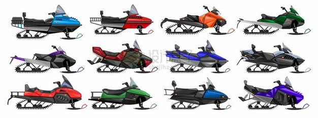 12款雪地摩托车雪上摩托车713687png图片素材