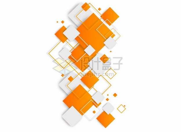 橙色方块边框装饰917307png图片素材