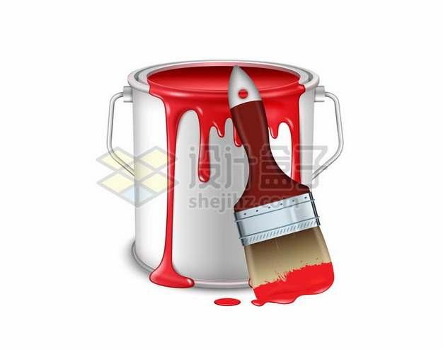 油漆桶和油漆刷子718681png图片素材