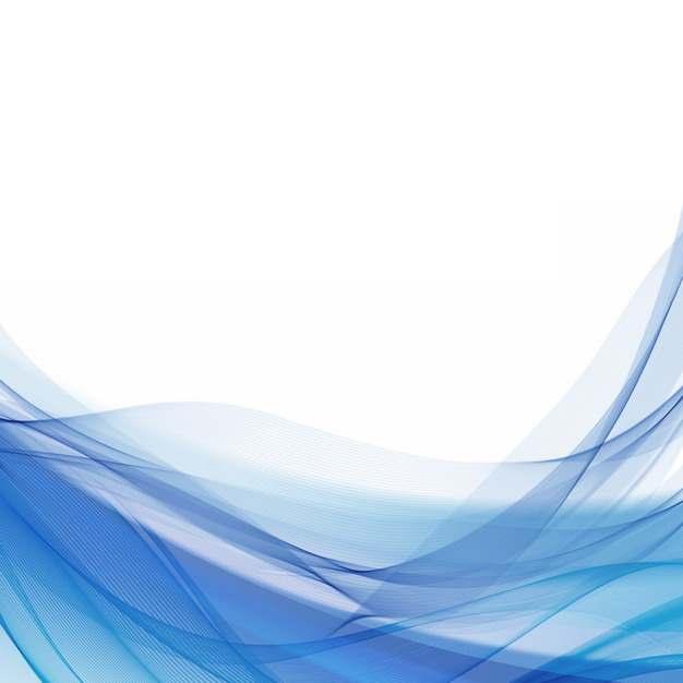 蓝色弧形波浪形装饰边框542859png图片素材