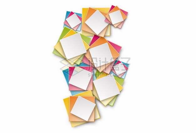 彩色方块装饰233007png图片素材