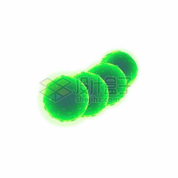绿色3D立体细菌病毒399035png图片素材