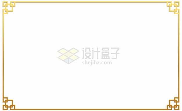 中国风金色边框223775png矢量图片素材