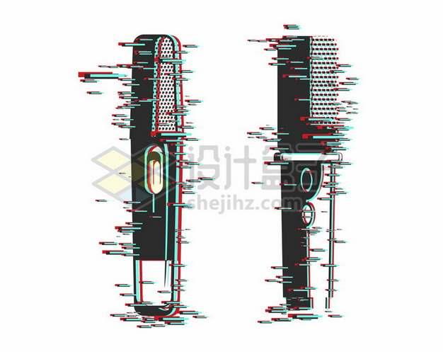 2款抖音故障风的话筒麦克风图案460668png矢量图片素材