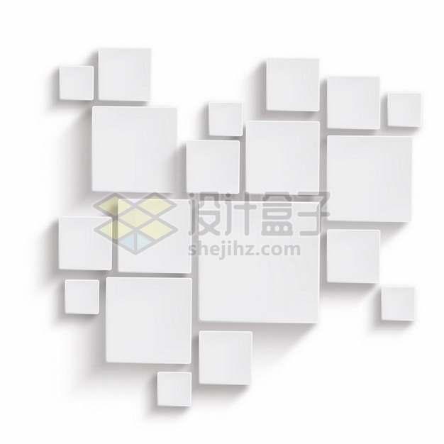带阴影白色方块装饰990331png图片素材