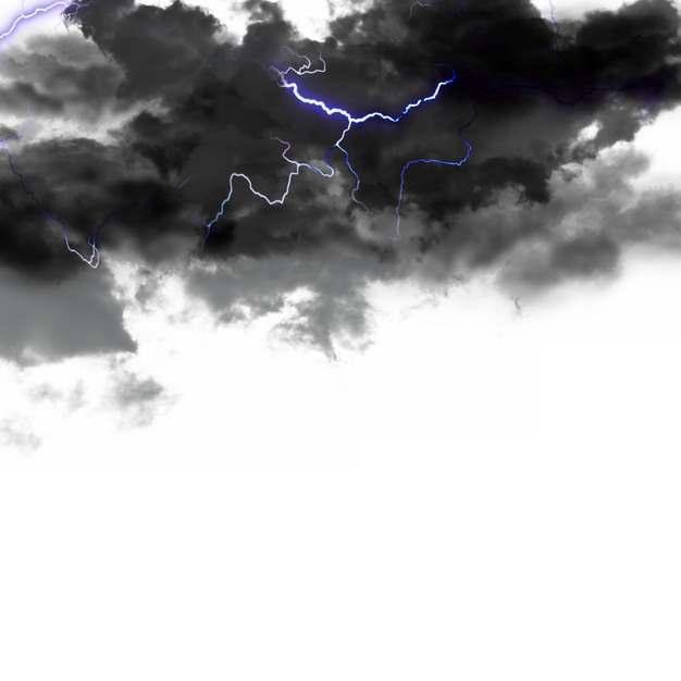 乌云里的闪电雷鸣电闪效果951306png图片素材