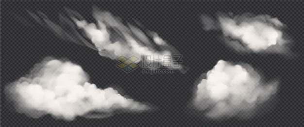 4款真实的白色云朵262399png图片素材