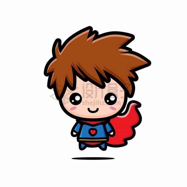 可爱的卡通大头超人png图片免抠矢量素材