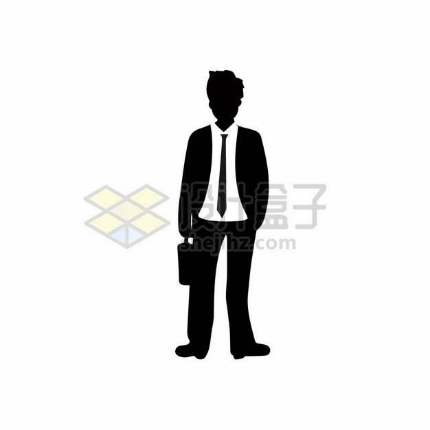 打领带的商务男士剪影366163png图片素材