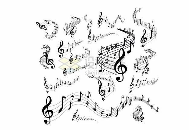 各种音乐乐谱音符五线谱502156png图片素材