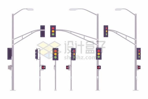 各种红绿灯和路灯灯杆360816png矢量图片素材 建筑装修-第1张