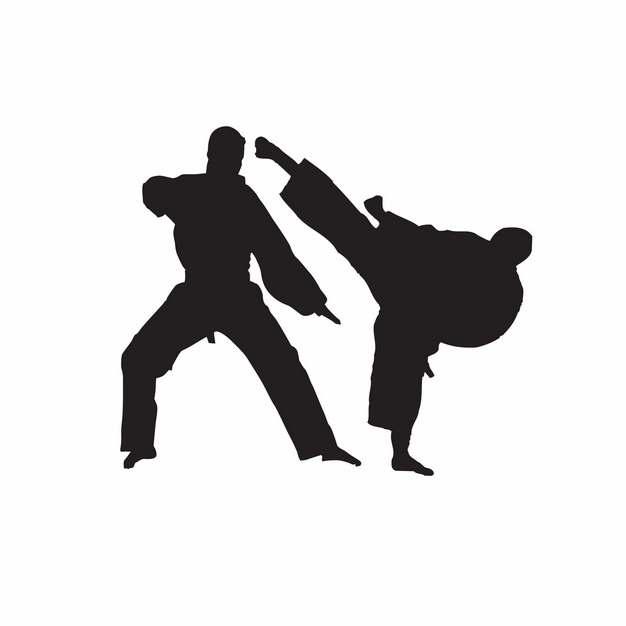 武术跆拳道剪影762415png图片素材