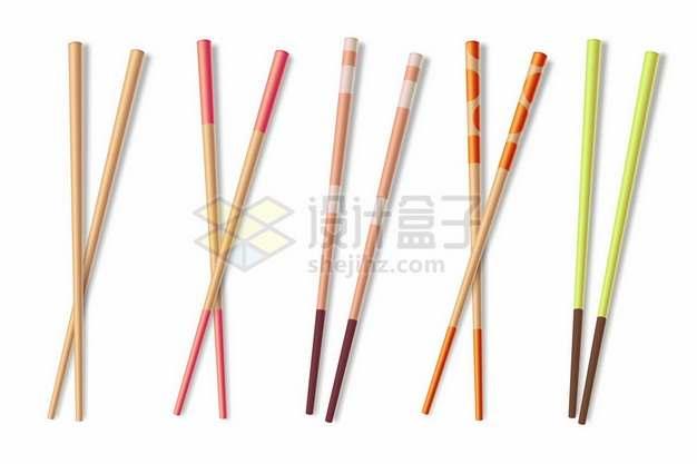 5种风格的竹筷子881308png图片素材