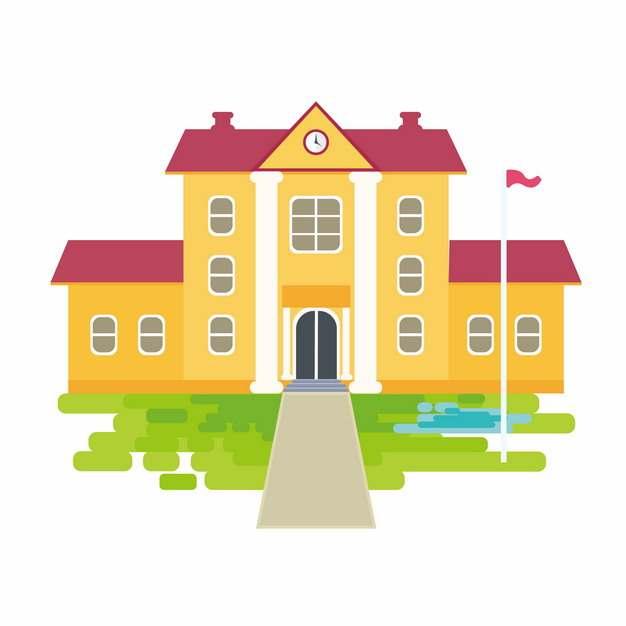 卡通学校教学楼房子建筑220271png图片素材