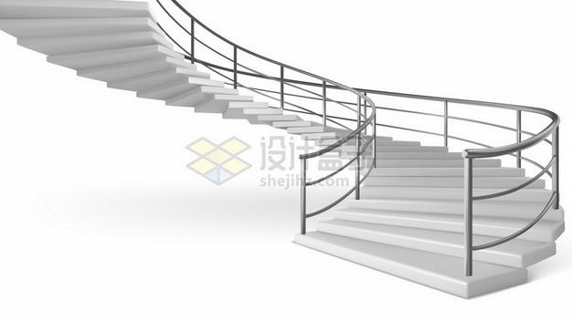 灰白色的旋转楼梯阶梯489610png矢量图片素材 建筑装修-第1张