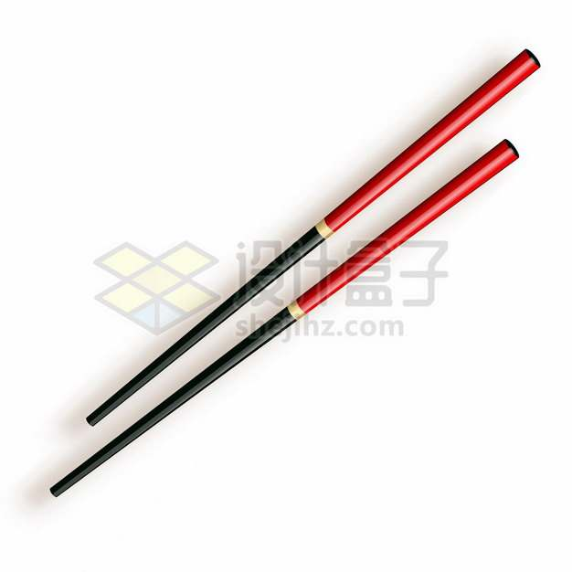 红黑色的筷子662913png图片素材