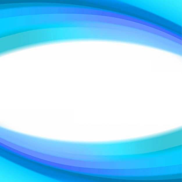 蓝色弧形波浪形装饰边框169484png图片素材