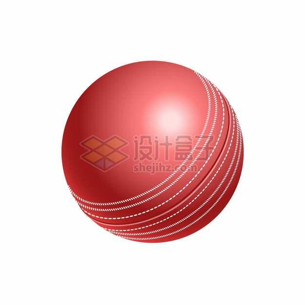 逼真的3D立体板球体育球类png图片素材