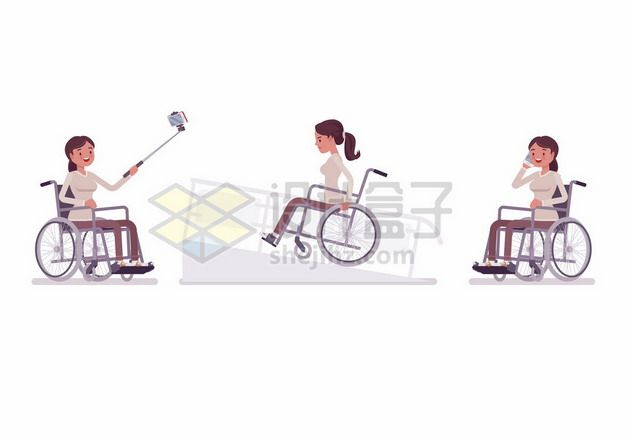 坐在轮椅上的残疾人544336png矢量图片素材
