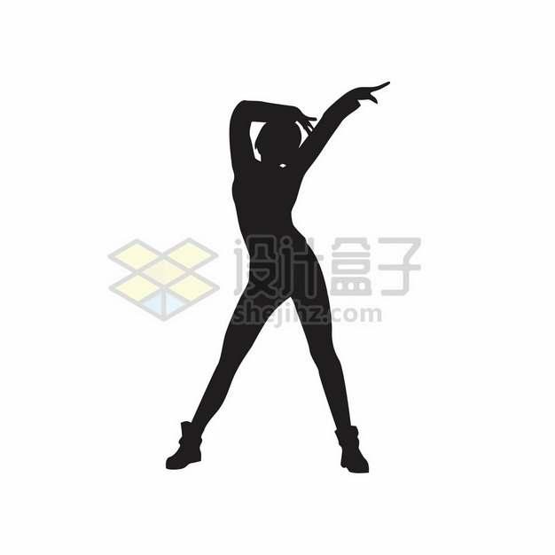 女团跳舞的女孩摆pose剪影282757png图片素材