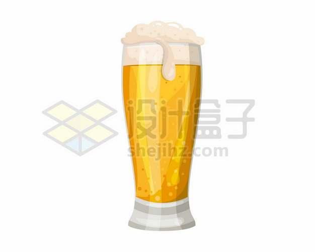 冒着啤酒花的啤酒杯183258png图片素材