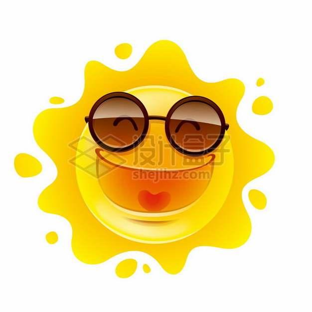 戴眼镜的卡通太阳203083png图片素材