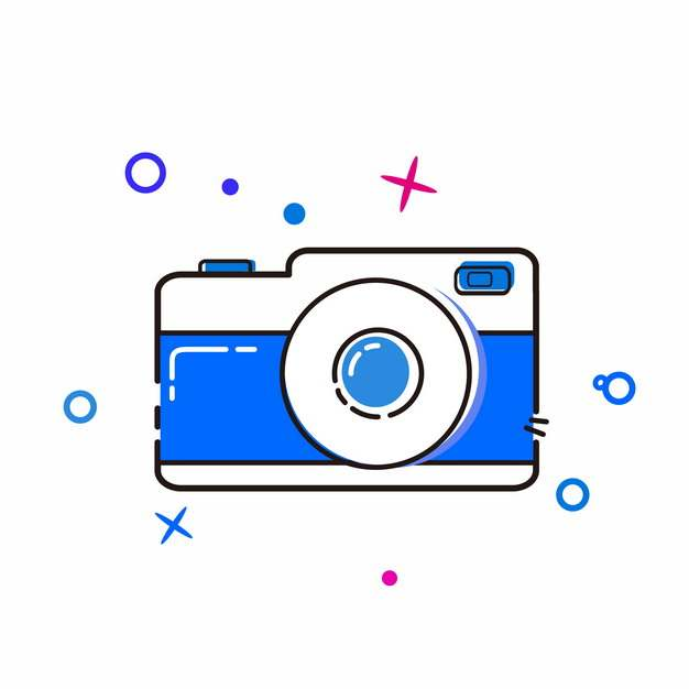 MBE风格蓝色照相机419587png图片素材