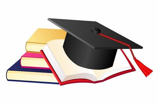 书本和博士帽学士帽毕业季509770png图片素材
