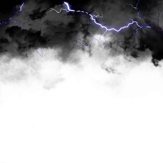 乌云里的闪电雷鸣电闪效果703670png图片素材