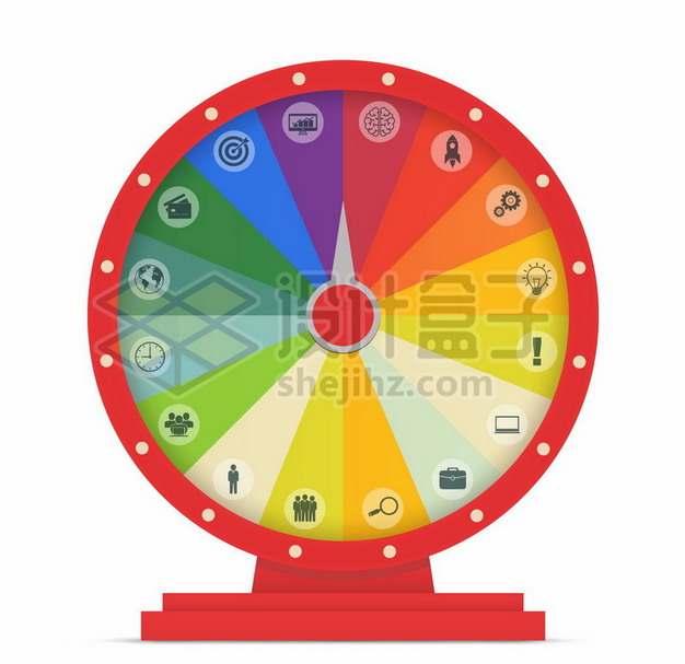 红色边框抽奖大转盘266926png图片素材