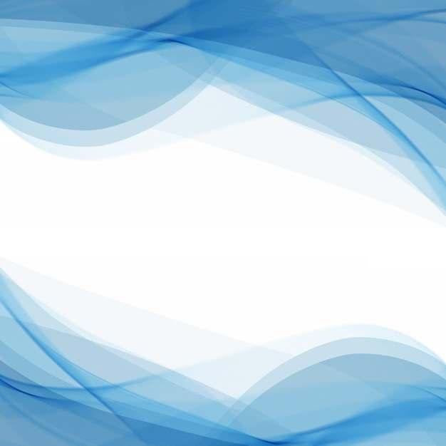 蓝色弧形波浪形装饰边框460846png图片素材