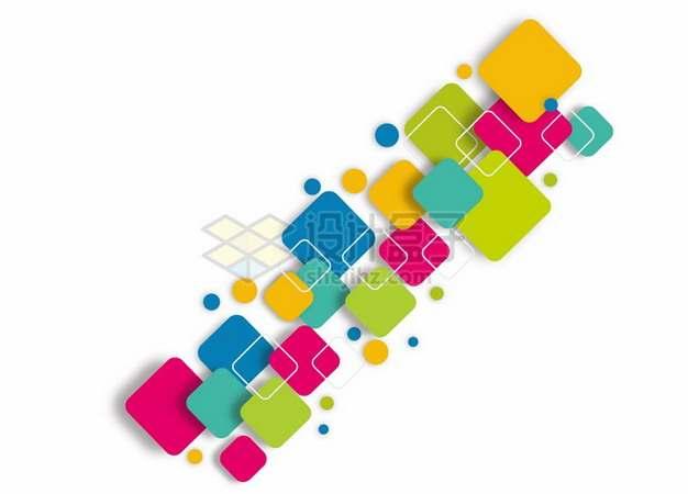 彩色方块组成的装饰558851png图片素材