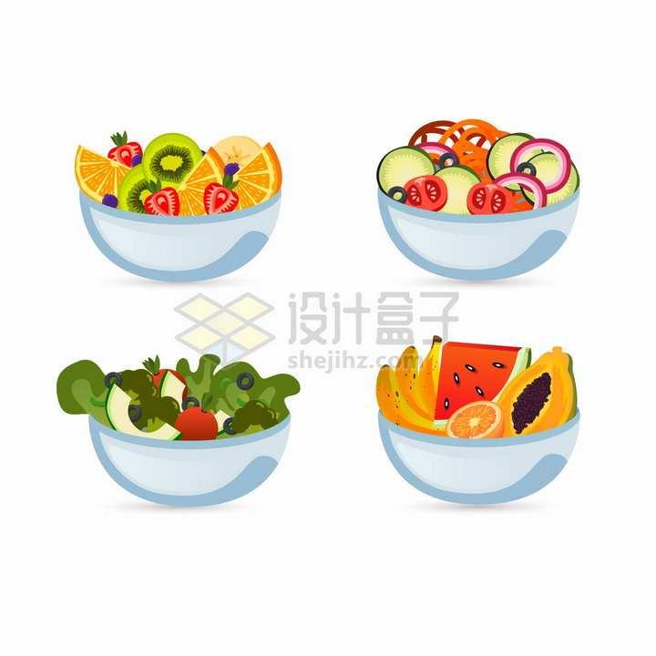 4款水果拼盘切块美味美食png图片免抠矢量素材