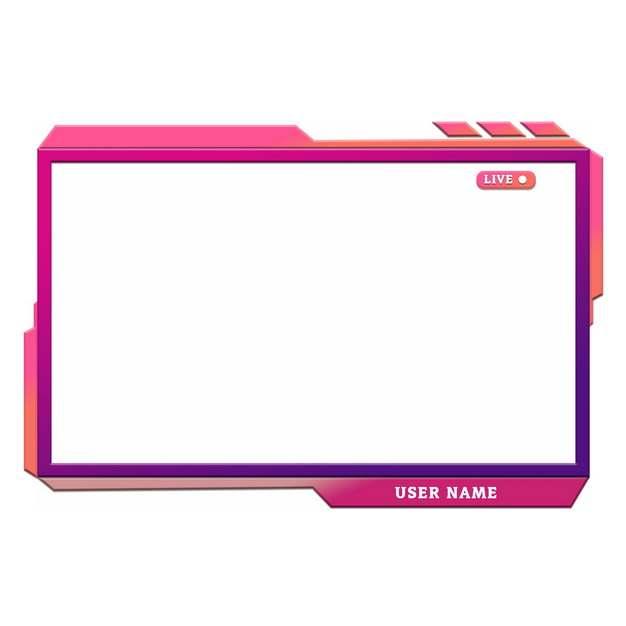 红色紫色视频播放框文本框信息框697909png图片素材