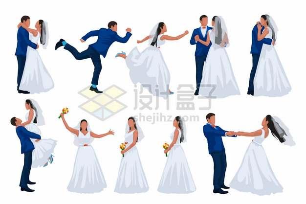 情侣结婚拍婚纱照摆pose集锦131765png矢量图片素材