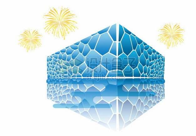 水立方插画北京地标建筑105151png图片素材