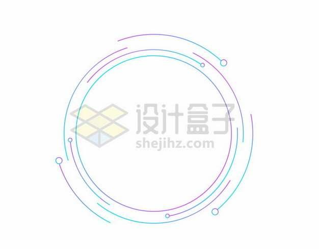 彩色线条组成的圆环装饰图案615227png图片素材
