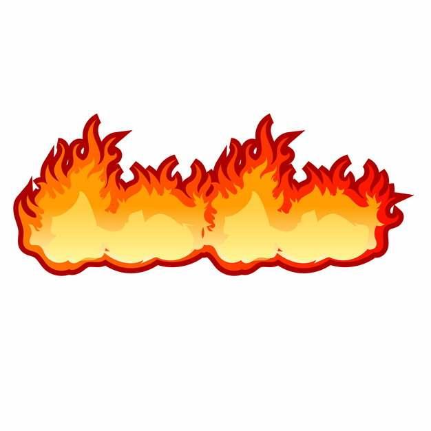 漫画风格燃烧的火焰png图片素材213986