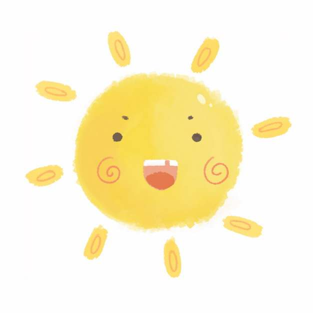 可爱的卡通太阳193629png图片素材