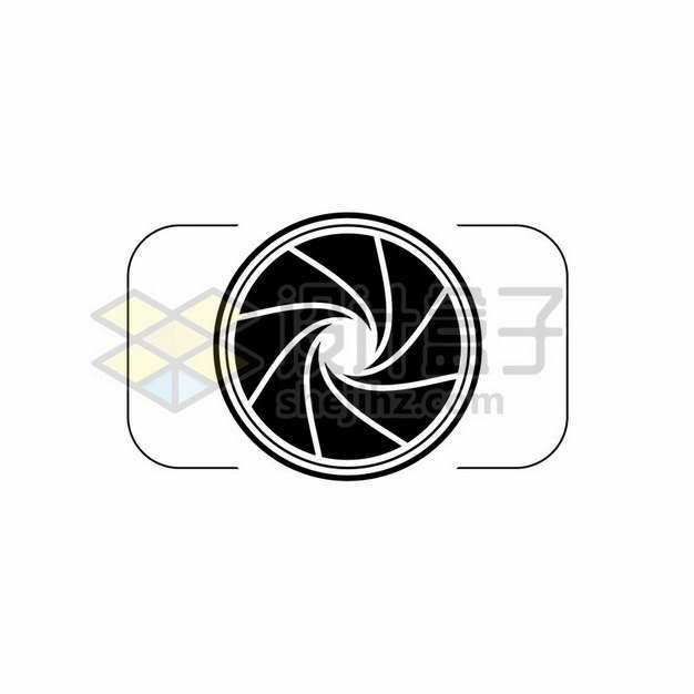 黑色线条照相机镜头图案318458png图片素材