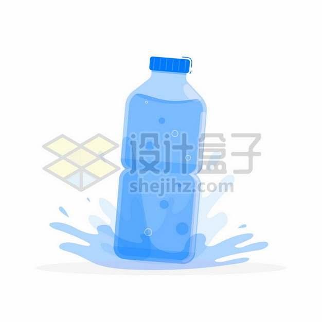一瓶纯净水扁平插画130329png图片素材