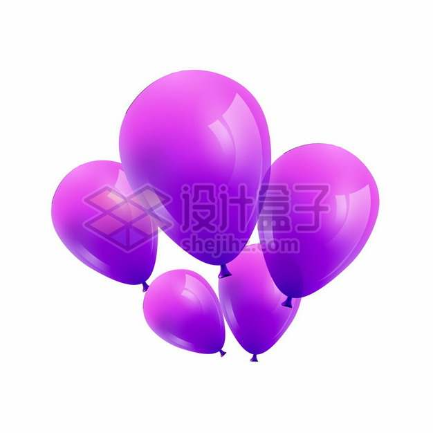逼真的紫色气球png图片素材511819