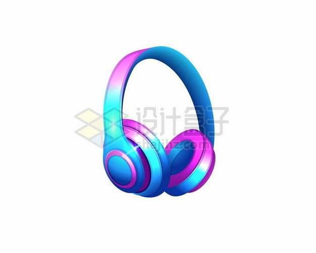 彩色绚丽的头戴式无线耳机耳麦364277png图片素材