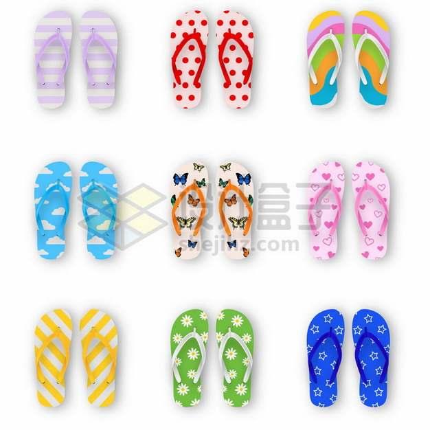 9款沙滩鞋拖鞋凉鞋432600png图片素材